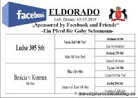 Eldorado by facebook and friends ist beendet!